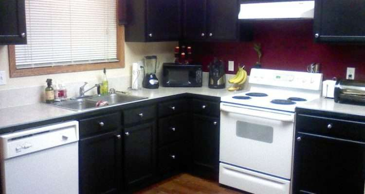 Amazing Black Painted Kitchen Cabinets