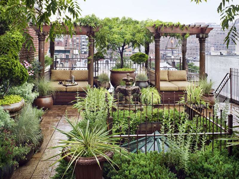 Amazing Eastern Style Rooftop Terrace Garden New York Duplex