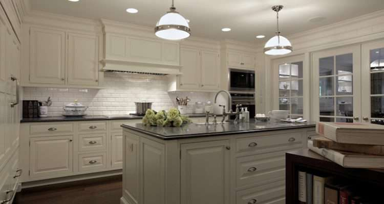 Amazing Kitchen Design White Beveled Subway Tiles Backsplash