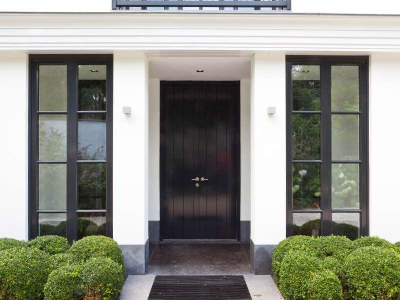 Black Front Door Windows Creative Inspiration Get More