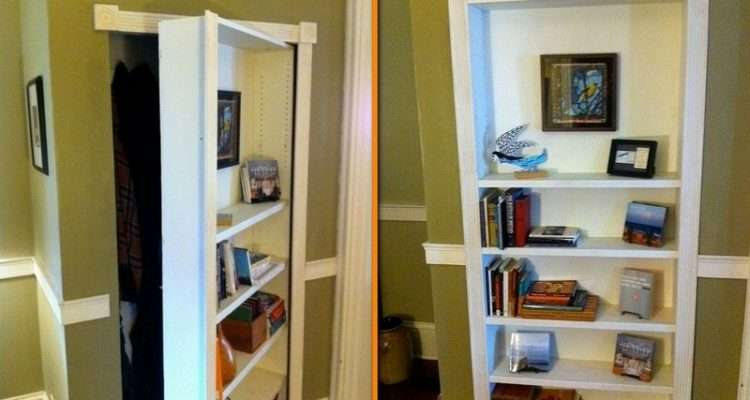 Build Your Own Hidden Door Bookcase Diy Cozy Home