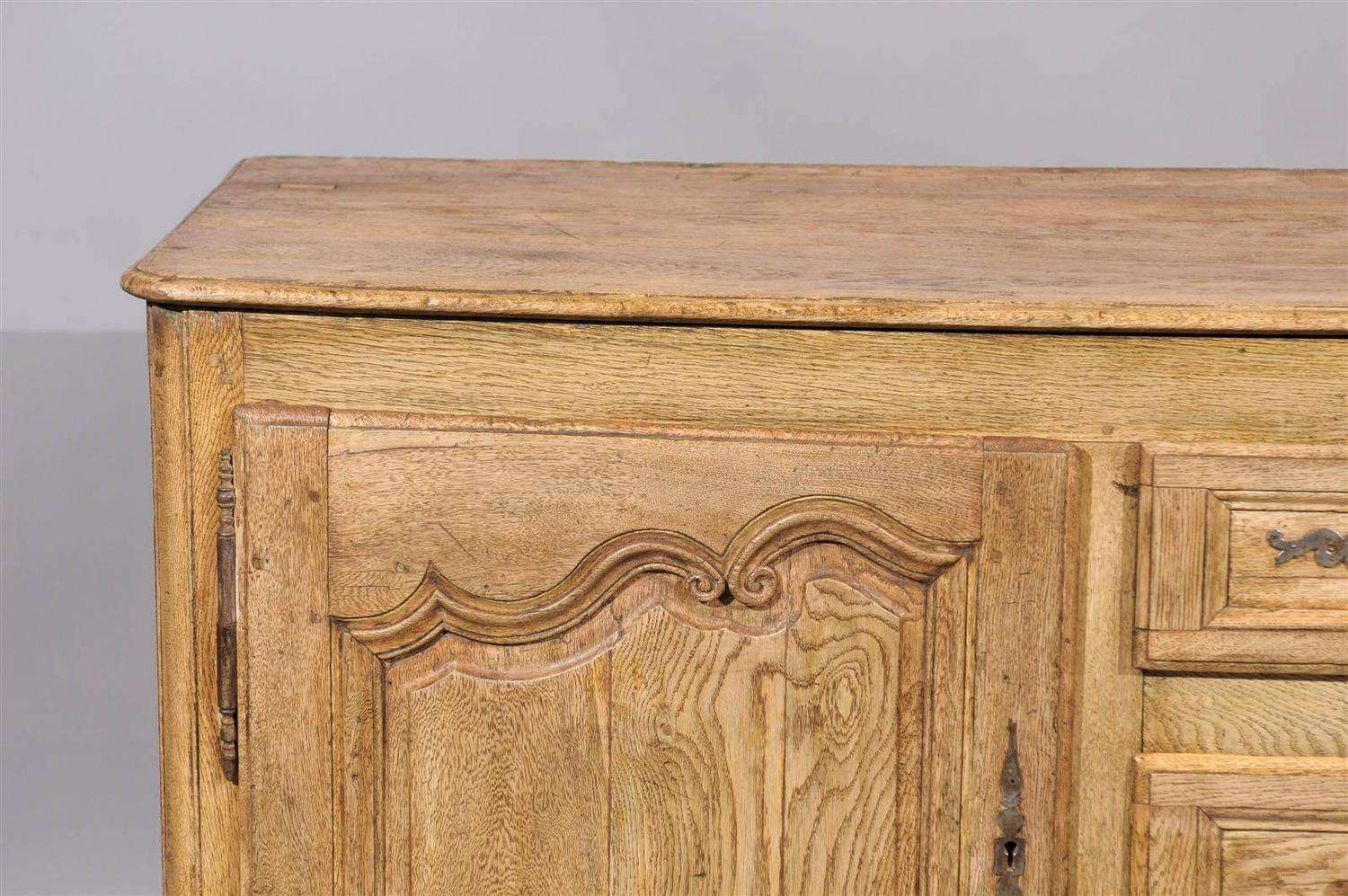 Century French Louis Style Pickled Oak Enfilade Sale Stdibs