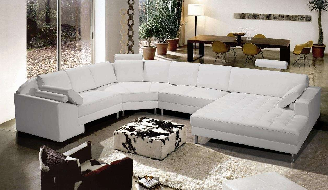 Chic Collection Modern Leather Sectional Sofas Plushemisphere