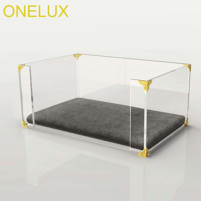 Clear Acrylic Dog Cat Bed Lucite Pet Beds Metal