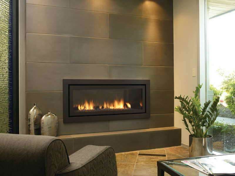 Contemporary Fireplaces Gas Grey Wall