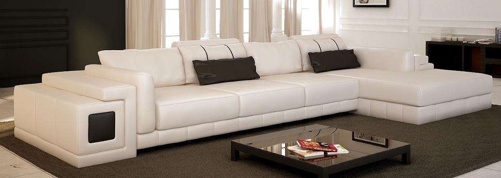 Contemporary Modern White Sectional Sofa