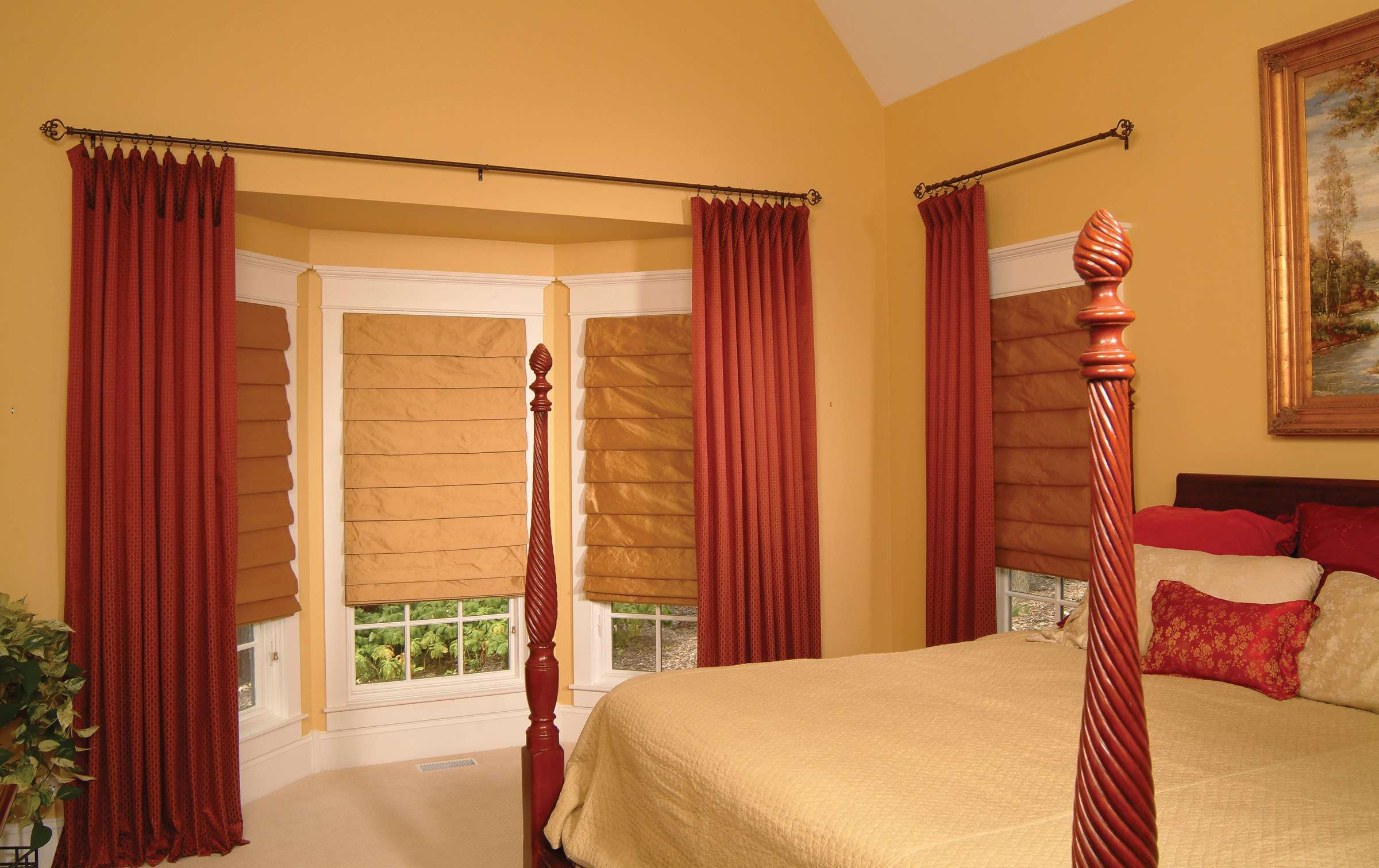 Craftsman Window Treatments Flowing Panels Shades