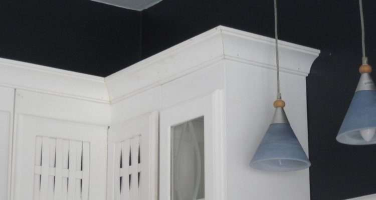 Crown Molding Sets Cabinets Off Just Right