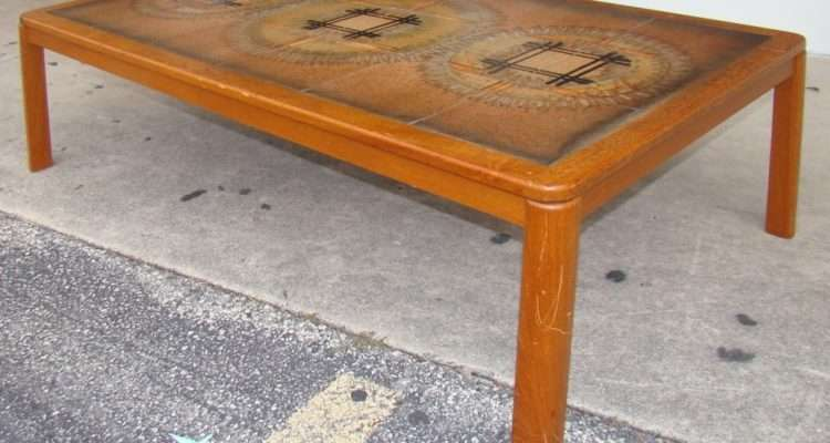 Danish Modern Tile Top Coffee Table Modernism