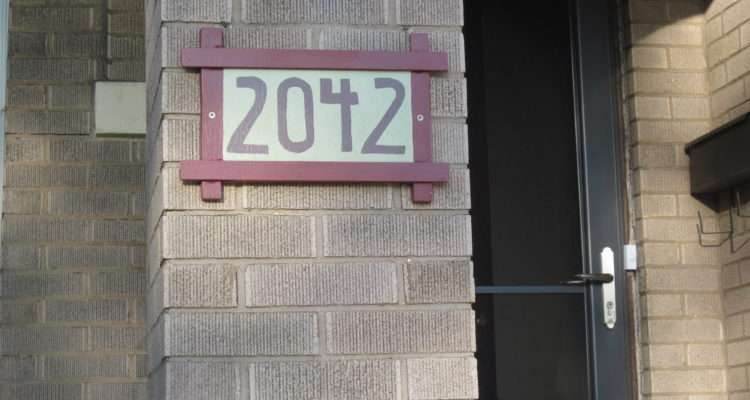 Decided Upgrade Our Old House Numbers Thought