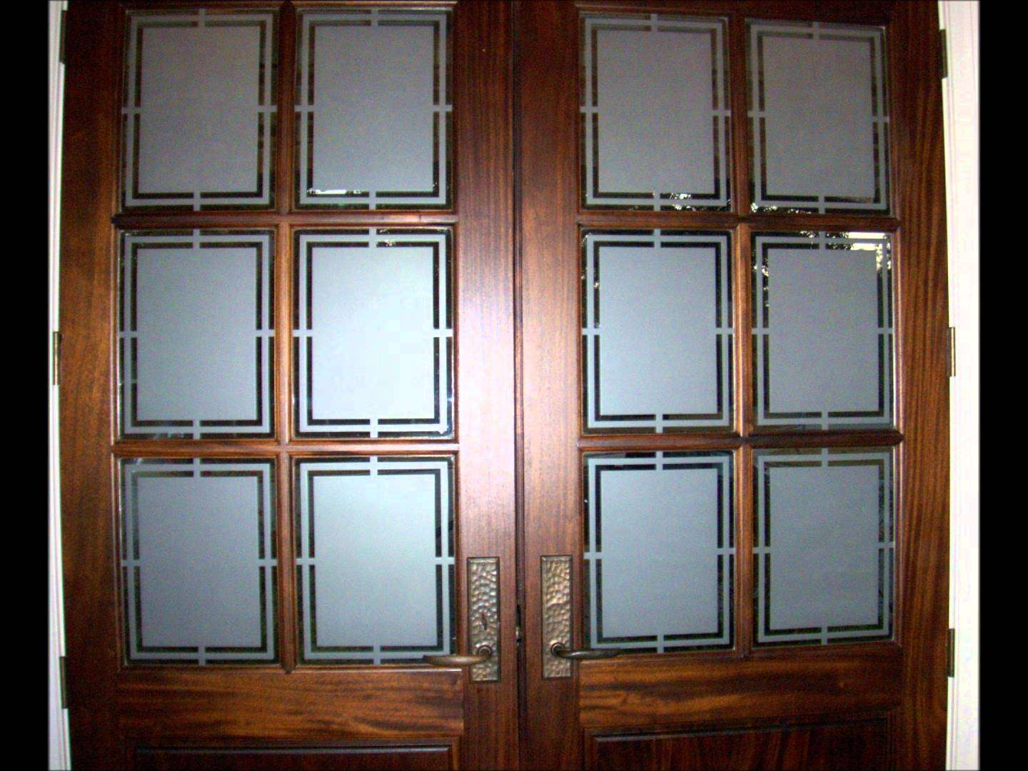 Decorative Privacy Glass Etching Front Doors Mini Tutorial