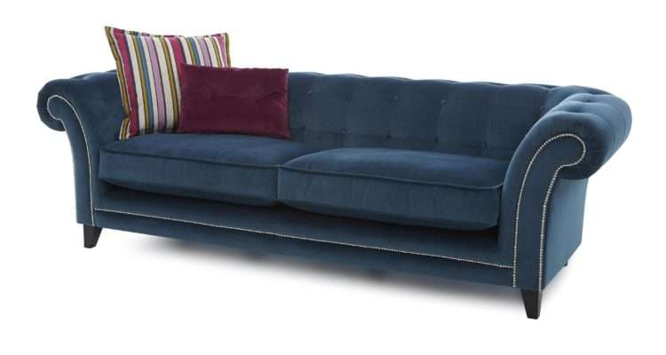 Dfs Dusty Fabric Teal Sofa Set Inc Seater Large
