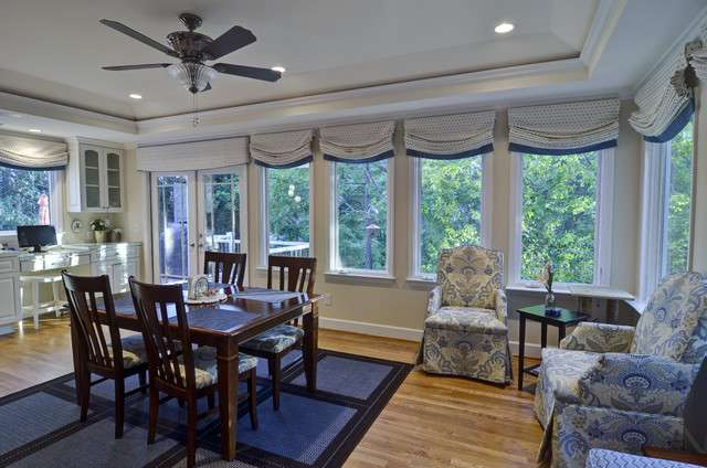 Dunwoody Kitchen Deck Sunroom Traditional Dining