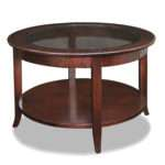 Fascinating Round Wood Coffee Table Home Bar