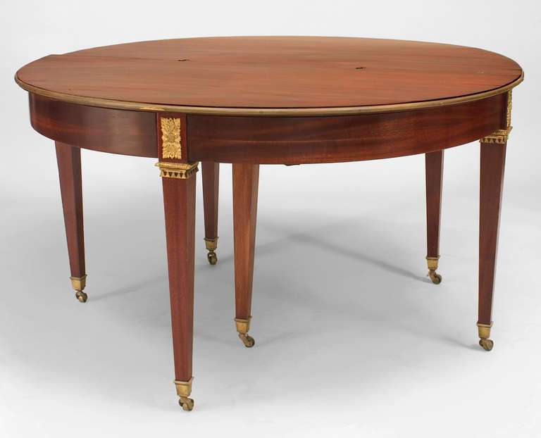 French Convertible Bronze Trimmed Mahogany Console Sale