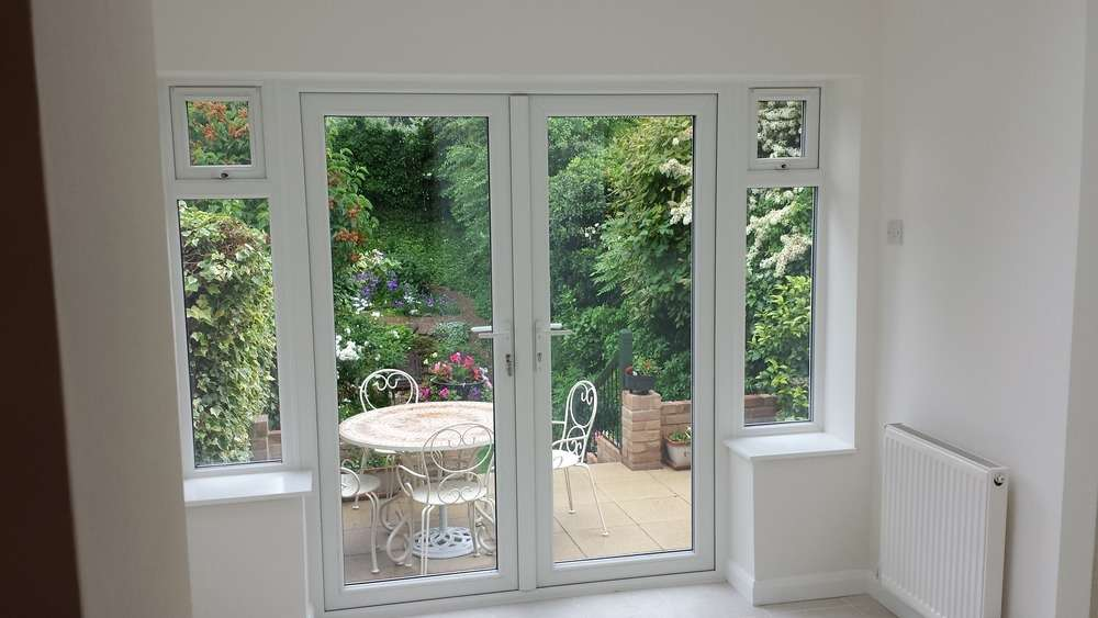 French Doors Looking Out Our Single Story Extension Wimbledon