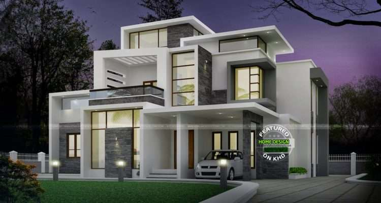 Grand Contemporary Home Design Kerala