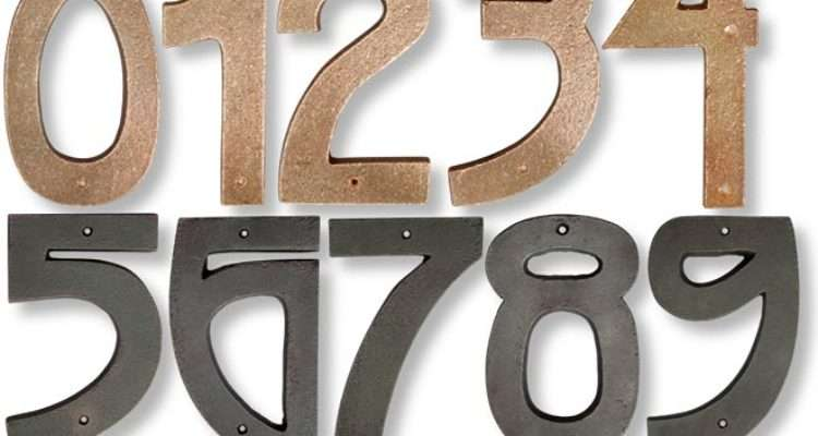 Grendl Craftsman Style House Numbers