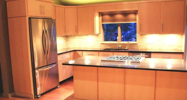 Hand Crafted Custom Ash Kitchen Cabinets Blue Spruce