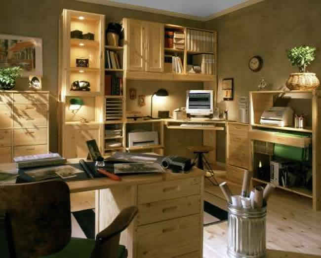 Home Office Versatile Universal Shelving System Provides