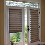 Hunter Douglas Vignette Roman Shade French Doors