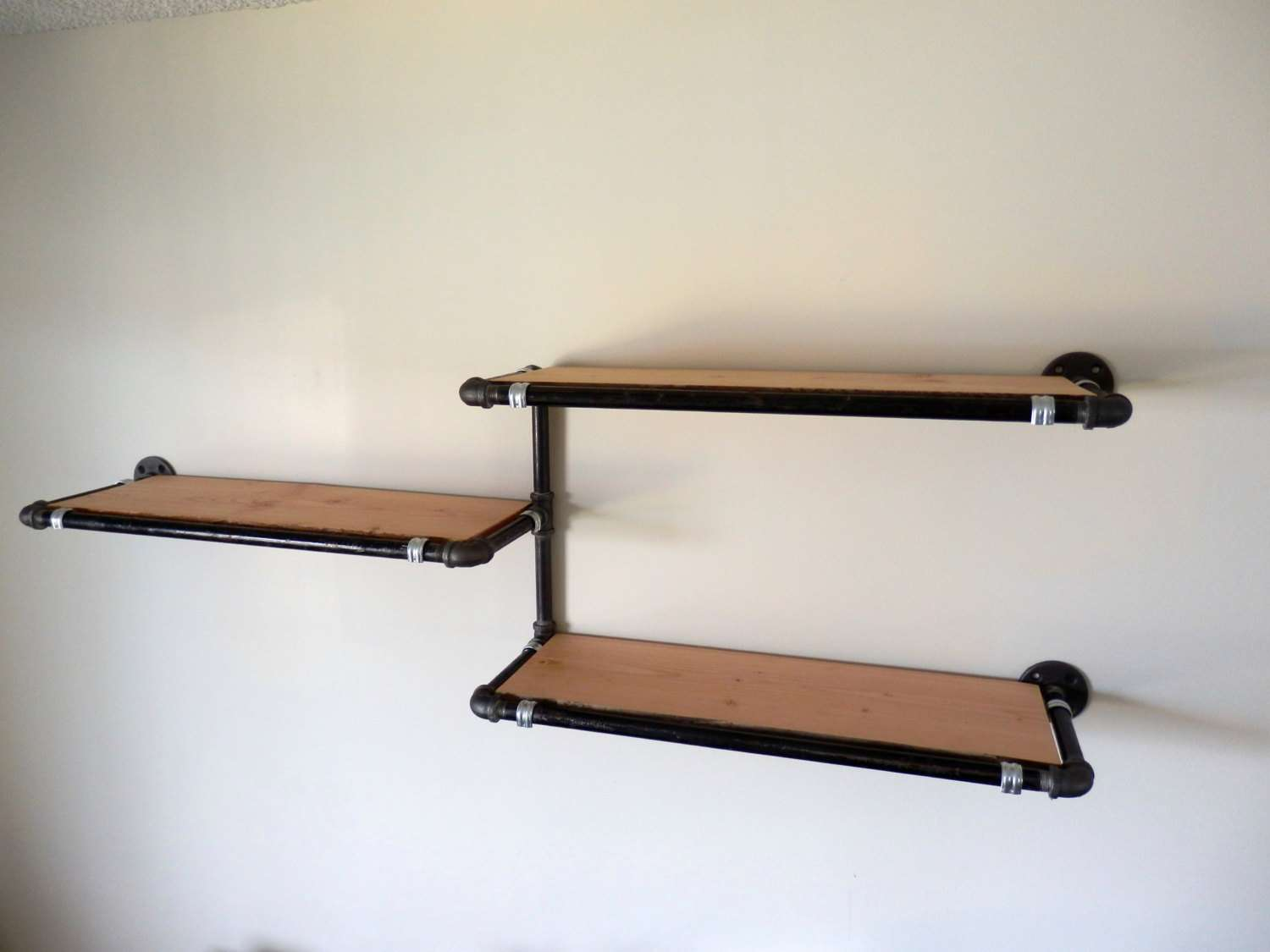 Industrial Pipe Wall Shelf Reclaimed Derekgoodbrand