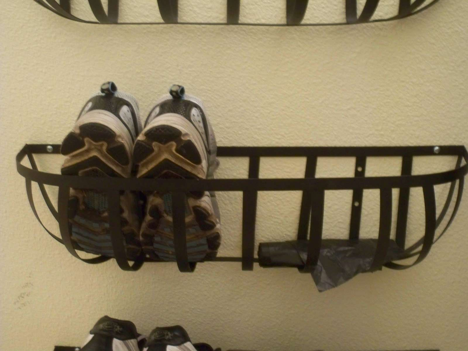 Inspired Mudroom Under Part Shoe Rack Consolidation