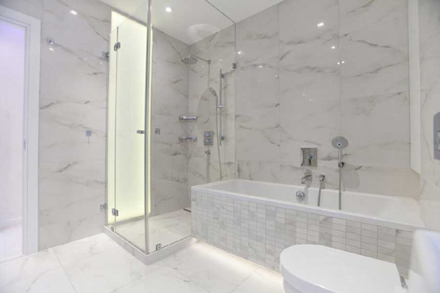 Interior White Carrera Marble Kitchen Bathroom Currently