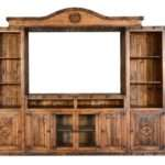 Large Rustic Wall Entertainment Center Stars Rustics Sierra