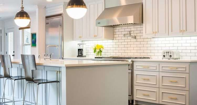 Light Gray Painted Kitchen Cabinets Transitional Sherwin