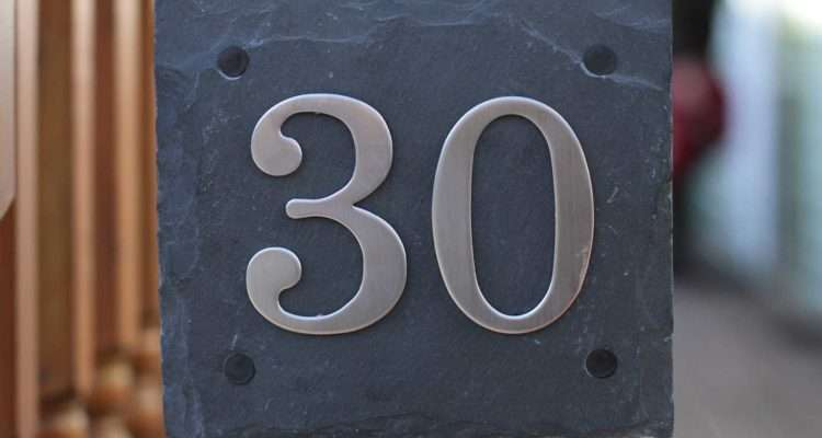 Natural Slate Door House Number Plaques Choice