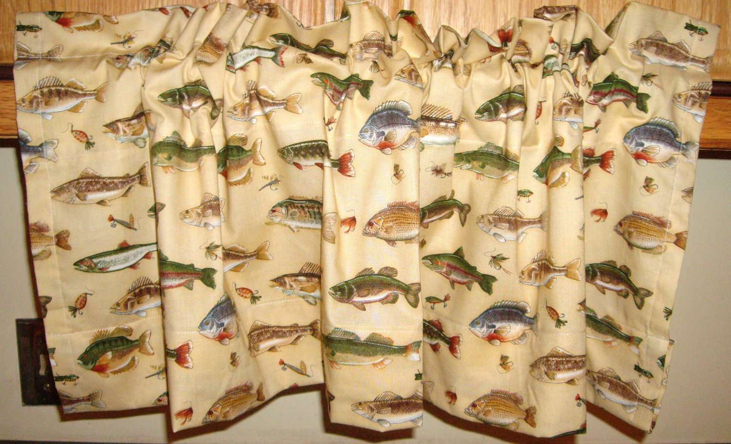 Pair New Window Valance Curtains Cabin Downthepathcreations