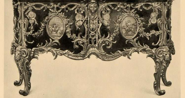Print Rococo Furniture Century French Commode