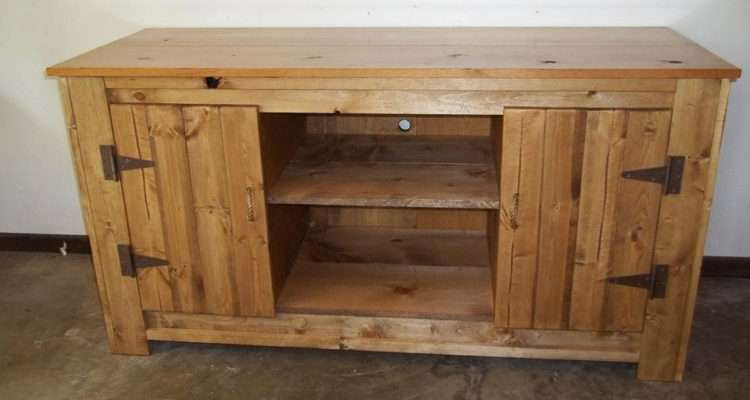 Rustic Pine Entertainment Center Roughcountryrustic Etsy