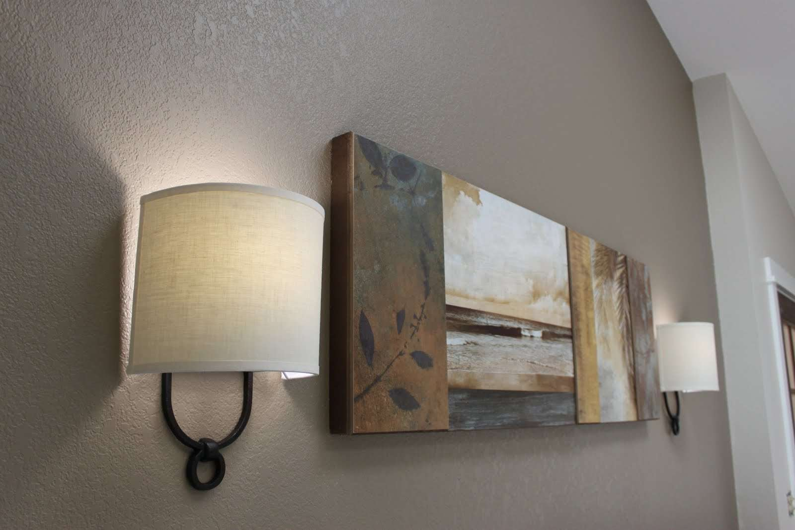 Shimmer Glow Sconce Switch Light Decorating Ideas