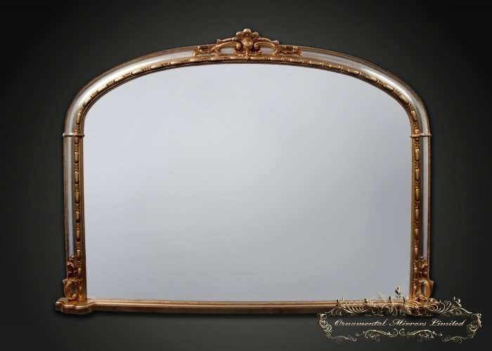 Silver Gold Overmantel Mirror Ornamental Mirrors Limited