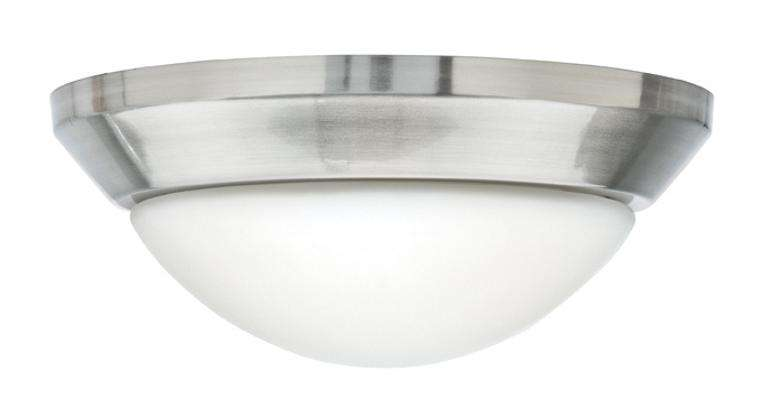 Single Globe Brushed Nickel Ceiling Fan Light Fixture
