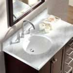 Single Sink Vanity Set Left Offset Espresso Ariel Bath