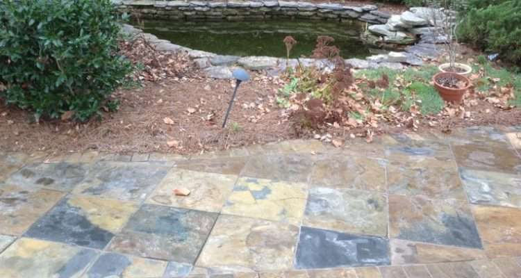 Slate Walkway Floor Tile Steps Pinterest
