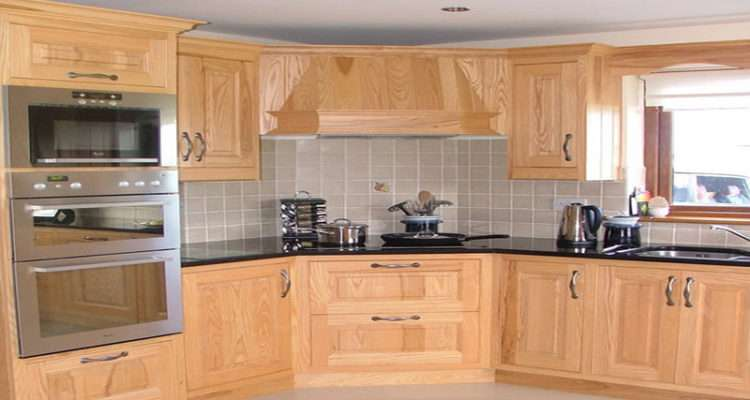 Stainless Sink Ash Wood Kitchen Cabinets Beech