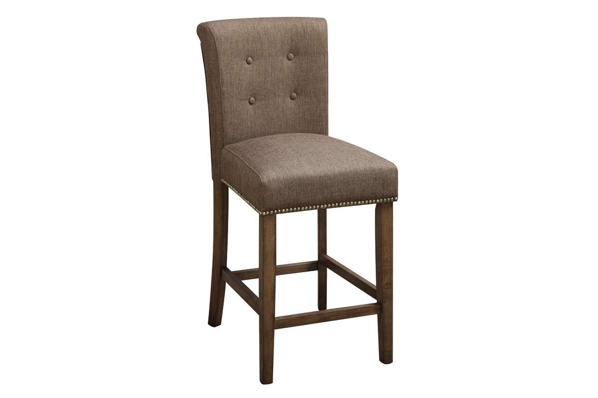 Stools Poundex Slate Fabric Upholstered Counter Height Chairs