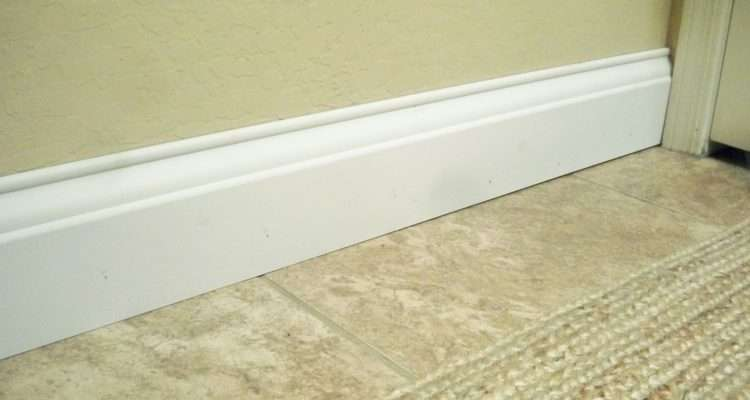 Stroll Thru Life Install Wide Baseboard Molding Over
