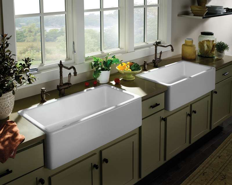 Style Porcher Farm Sinks Bring Practical Smarts Any Gourmet Kitchen