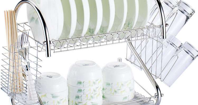 Tier Multi Function Stainless Steel Dish Drying Rack Cup