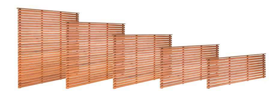 Tranquil Earth Cedar Horizontal Slatted Fencing