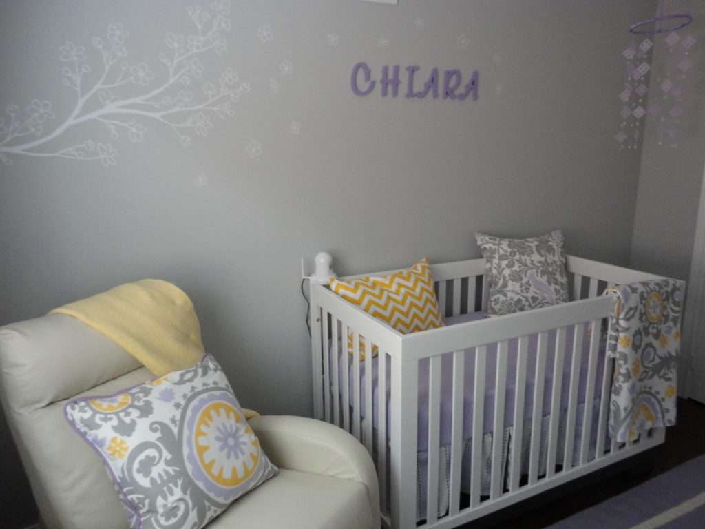 Transitional Lavender Grey Nursery Project