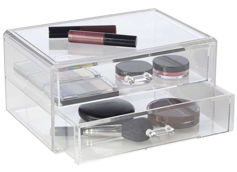 Vanity Accessories Makeup Storage Small Cosmetic Drawers Acrylic