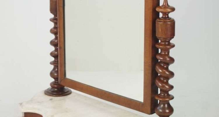 Victorian Dressing Table Mirror Marble Base