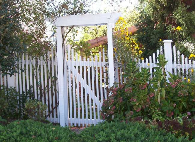 White Wooden Garden Gate