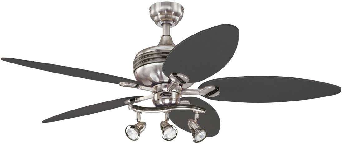Xavier Inch Brushed Nickel Contemporary Ceiling Fan